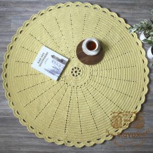 Круглый интерьерный ковер из шнура