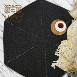 Ковер шестиугольный черный