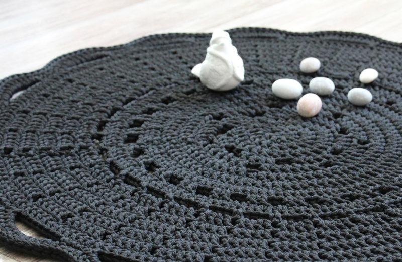 Мастер-класс по вязанию ковра из шнура